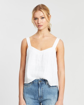 DRICOPER DENIM - Women's White Sleeveless Tops - Cami Top - Size One Size, L at The Iconic