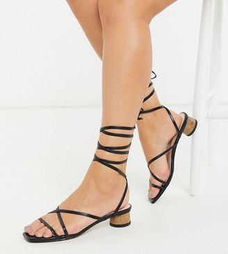 Raid Wide Fit Bonnie heeled sandals in black