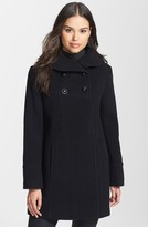 Larry Levine Wool Blend Swing Coat