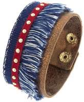 Bargain World Denim Tassel Stripe Bracelet