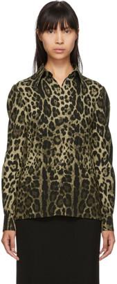 Dolce & Gabbana Tan Leopard Print Shirt