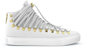 Swear Redchurch laced hi-top sneakers Fast track Personalisation