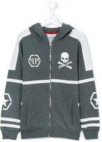 Philipp Plein teen hooded jacket - kids - Cotton - 14 yrs