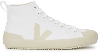 Veja Nova white canvas hi-top sneakers