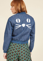 ModCloth Whisker Takes All Denim Jacket in L