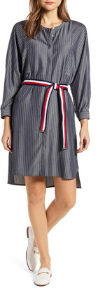 Tommy Hilfiger Stripe Long Sleeve Shirtdress