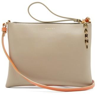 Marni Logo-plaque Small Leather Cross-body Bag - Orange Multi