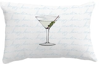 Wrought Studio Boscobel Martini Glass Fade Outdoor Rectangular Pillow Cover & Insert Color: Blue
