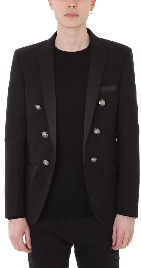 Balmain Black Cotton Blazer