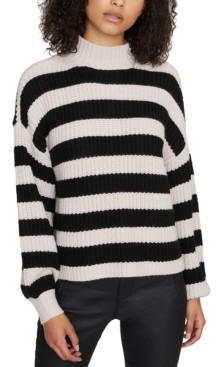 Sanctuary Sweet Tooth Striped Mock-Neck Sweater