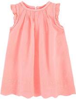 3 Pommes Embroidered sleeveless dress