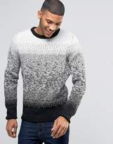 Bellfield Ombre Jacquard Knitted Sweater