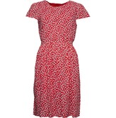 Warehouse Onfire Womens Short Sleeve Printed Dress Red/White