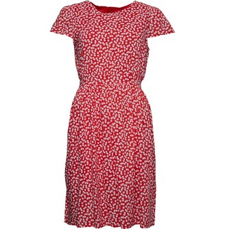 Onfire Womens Short Sleeve Printed Dress Red/White