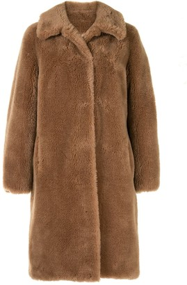 Yves Salomon Meteo Faux-Fur Mid-Length Coat