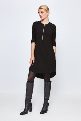 Karen Millen Zip Front Relaxed Tailored Dress