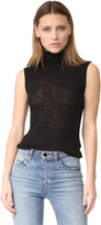 Alexander Wang Sheer Rib Turtleneck Tank