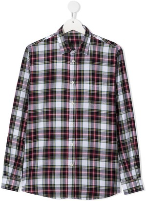 Il Gufo TEEN plaid long-sleeved shirt