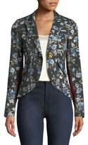 Smythe Floral-Print One-Button Blazer