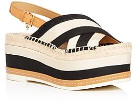 Tory Burch Women's Criss-Cross Slingback Platform Sandals