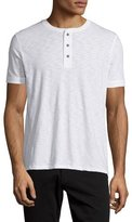 Vince Short-Sleeve Slub Henley T-Shirt, White