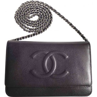 Chanel Wallet on Chain Purple Leather Handbags