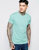 Farah T-shirt With F Logo In Slim Fit In Coastal Blue