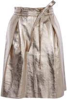 Karen Millen Gold Leather Skirt