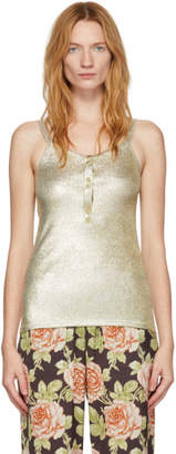 Paco Rabanne Gold Lurex Tank Top