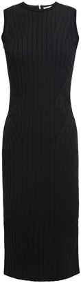 Victoria Beckham Zip-detailed Ribbed-knit Dress