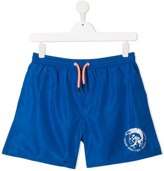 Diesel TEEN Mohawk-logo swim shorts
