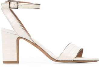 Tabitha Simmons Leticia 60mm crocodile embossed sandals