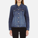 Levi's Women's Boyfriend Trucker Jacket Dark Fog