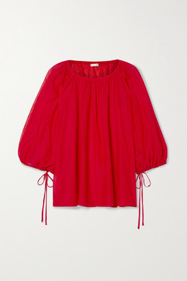 Skin Bianca Cotton-voile Blouse - Red