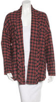 6397 Plaid Open Jacket