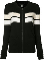 Thomas Wylde Merinda striped cardigan - women - Silk/Cotton/Spandex/Elastane/Viscose - L