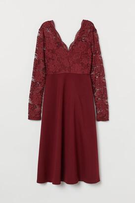 H&M MAMA V-neck Dress - Red