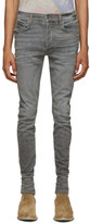 Amiri Grey Stack Smoke Jeans