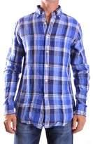 Ralph Lauren Men's Blue Linen Shirt.