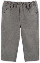 Pili Carrera Melange Straight-Leg Scuba Pants, Gray, Size 3-6 Months