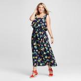 Merona Women's Plus Size Popover Maxi Dress Navy Floral