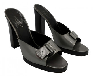 Gucci Grey Patent leather Sandals