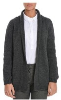 H953 Women's Grey Wool Cardigan.