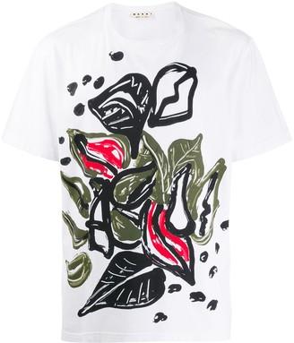 Marni painted print T-shirt