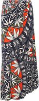 Tory Burch Printed silk maxi skirt