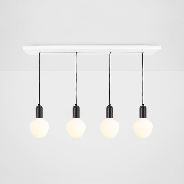 Tala Enno Linear Plate with 4 x Graphite Pendants