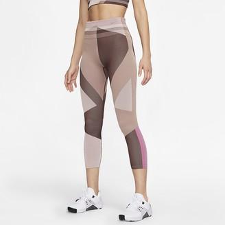Nike Women's Seamless 7/8 Training Tights Sculpt Icon Clash