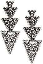 INC International Concepts Hematite-Tone Linked Pavé Triangle Linear Drop Earrings, Only at Macy's