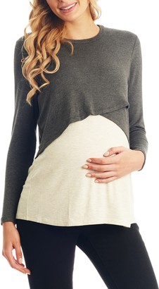 Everly Grey Clarissa Two-Piece Maternity/Nursing Top