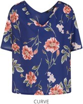 Girls On Film Curve Floral Print Puff Sleeve Top